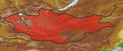 taxon distribution for Triglochin palustris acc. to Geobotanical Regions of Mongolia by Grubov (1955)