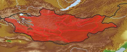 taxon distribution for Allium tenuissimum acc. to Geobotanical Regions of Mongolia by Grubov (1955)