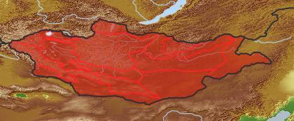 taxon distribution for Artemisia macrocephala acc. to Geobotanical Regions of Mongolia by Grubov (1955)