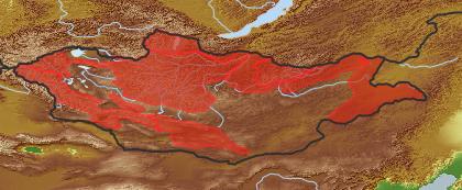 taxon distribution for Taraxacum dissectum acc. to Geobotanical Regions of Mongolia by Grubov (1955)