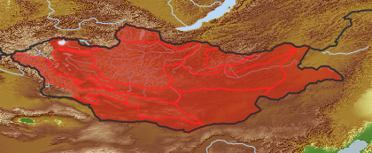 taxon distribution for Allium polyrrhizum acc. to Geobotanical Regions of Mongolia by Grubov (1955)