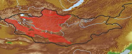 taxon distribution for Erigeron oreades acc. to Geobotanical Regions of Mongolia by Grubov (1955)