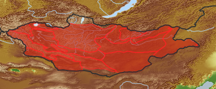 taxon distribution for Cicuta virosa acc. to Geobotanical Regions of Mongolia by Grubov (1955)