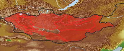 taxon distribution for Scorzonera austriaca acc. to Geobotanical Regions of Mongolia by Grubov (1955)