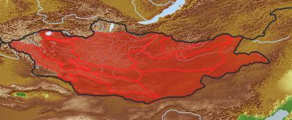taxon distribution for Artemisia anethifolia acc. to Geobotanical Regions of Mongolia by Grubov (1955)