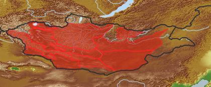 taxon distribution for Crepidiastrum akagii acc. to Geobotanical Regions of Mongolia by Grubov (1955)
