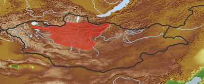 taxon distribution for Erigeron pseudoeriocephalus acc. to Geobotanical Regions of Mongolia by Grubov (1955)