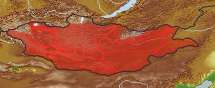 taxon distribution for Artemisia xanthochroa acc. to Geobotanical Regions of Mongolia by Grubov (1955)