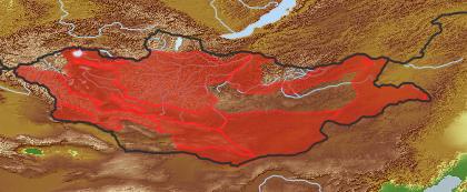 taxon distribution for Taraxacum sinicum acc. to Geobotanical Regions of Mongolia by Grubov (1955)