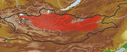 taxon distribution for Allium burjaticum acc. to Geobotanical Regions of Mongolia by Grubov (1955)