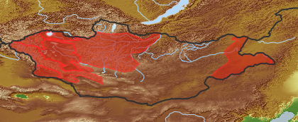 taxon distribution for Sparganium emersum acc. to Geobotanical Regions of Mongolia by Grubov (1955)