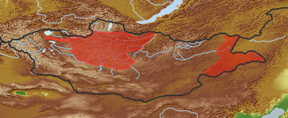taxon distribution for Ixeridium chinense acc. to Geobotanical Regions of Mongolia by Grubov (1955)