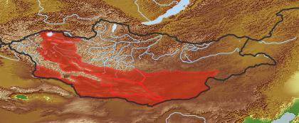 taxon distribution for Cynanchum  acc. to Geobotanical Regions of Mongolia by Grubov (1955)