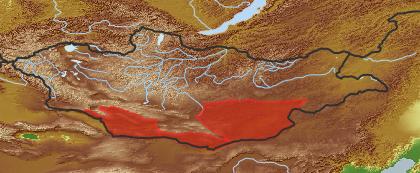 taxon distribution for Cynanchum chinense acc. to Geobotanical Regions of Mongolia by Grubov (1955)