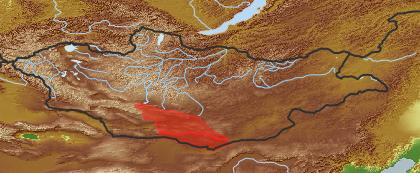 taxon distribution for Asperula  acc. to Geobotanical Regions of Mongolia by Grubov (1955)
